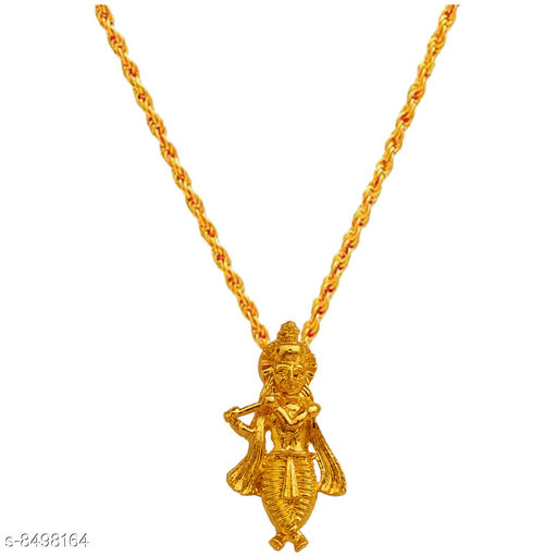 Jewellery   Shiv Jagdamba Religious Lord Shree Krishna Kanha Pendant Chain  Gold   Brass   Pendant For Men  Base Metal: Brass Plating: Brass Plated Type: Pendant Multipack: 1 Sizes:  Sizes Available: Free Size    Catalog Name: Casual Latest Men Jewellery CatalogID_1434500 C65-SC1227 Code: 662-8498164-997