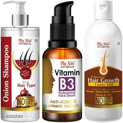Hair Care  The Nile Onion Hair Fall Shampoo for Hair Growth & Hair Fall Control, with Onion Oil & Plant Keratin 200ml