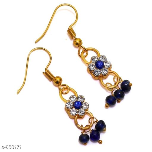Jewellery Elegant Metal Earrings  *Material* Metal  *Size* Free Size  *Description* It Has 1 Pair Of Earrings  *Work* Stone Work  *Sizes Available* Free Size *    Catalog Name: Elegant Metal Earrings for kids girls CatalogID_98413 C63-SC1198 Code: 481-850171-