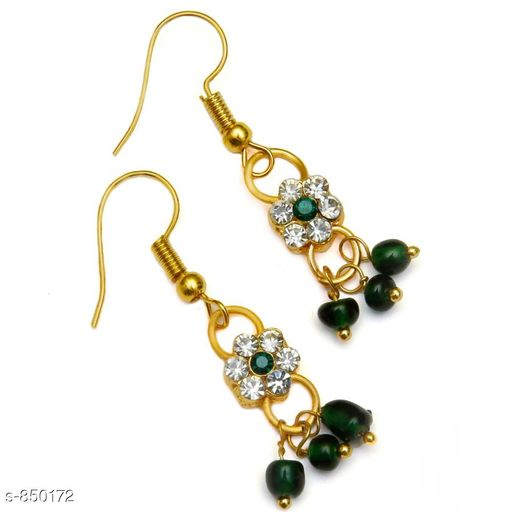Jewellery Elegant Metal Earrings  *Material* Metal  *Size* Free Size  *Description* It Has 1 Pair Of Earrings  *Work* Stone Work  *Sizes Available* Free Size *    Catalog Name: Elegant Metal Earrings for kids girls CatalogID_98413 C63-SC1198 Code: 481-850172-
