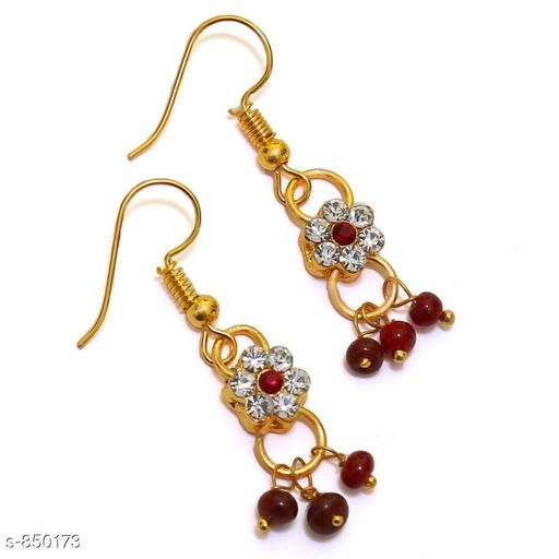 Jewellery Elegant Metal Earrings  *Material* Metal  *Size* Free Size  *Description* It Has 1 Pair Of Earrings  *Work* Stone Work  *Sizes Available* Free Size *    Catalog Name: Elegant Metal Earrings for kids girls CatalogID_98413 C63-SC1198 Code: 481-850173-