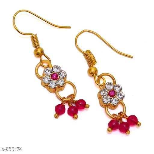 Jewellery Elegant Metal Earrings  *Material* Metal  *Size* Free Size  *Description* It Has 1 Pair Of Earrings  *Work* Stone Work  *Sizes Available* Free Size *    Catalog Name: Elegant Metal Earrings for kids girls CatalogID_98413 C63-SC1198 Code: 481-850174-