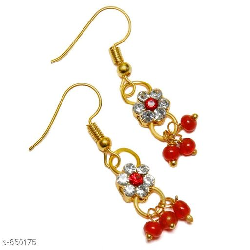 Jewellery Elegant Metal Earrings  *Material* Metal  *Size* Free Size  *Description* It Has 1 Pair Of Earrings  *Work* Stone Work  *Sizes Available* Free Size *    Catalog Name: Elegant Metal Earrings for kids girls CatalogID_98413 C63-SC1198 Code: 481-850175-
