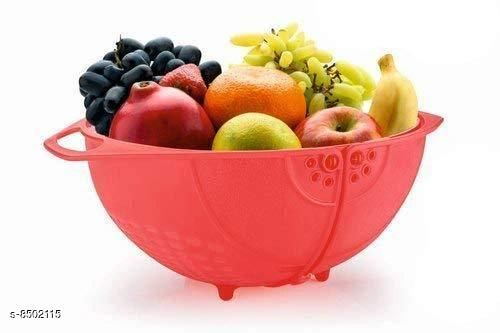 Food Processors 3 in 1 Fruit & Vegetable Basket - Red  *Material* Plastic  *Pack* Pack of 1  *Sizes Available* Free Size *    Catalog Name: Trendy Washing Bowl CatalogID_1435494 C104-SC1482 Code: 562-8502115-995