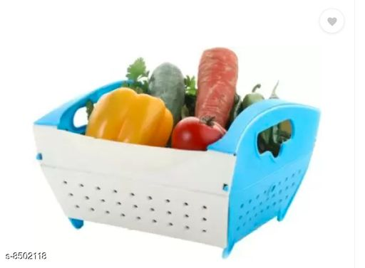 Food Processors Folding Fruit Vegetable Basket - Blue  *Material* Plastic  *Pack* Pack of 1  *Sizes Available* Free Size *    Catalog Name: Trendy Washing Bowl CatalogID_1435494 C104-SC1482 Code: 033-8502118-995