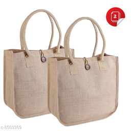 Eco-friendly jute bags with padded handles
