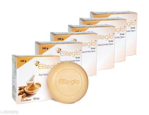 Eliteglo Multani Mitti Soap For Body & Face (Pack of 6)