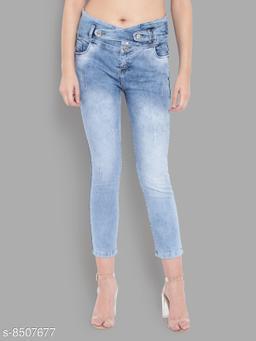 Ladies High Waist Skinny Fit Denim Jeans