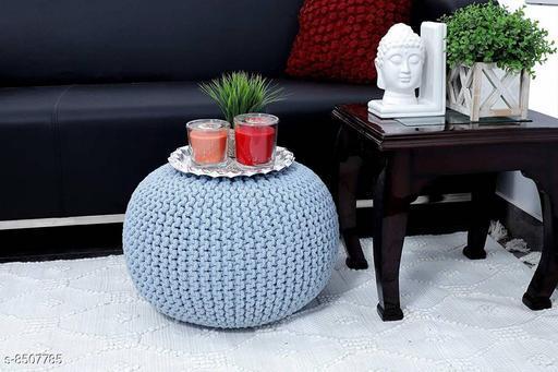 Aditya Home Decor Natural Fibre Pouffe for living Room