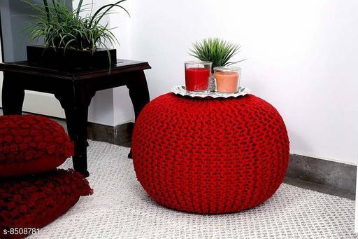 Home Streak Natural Fibre Pouffe for living Room