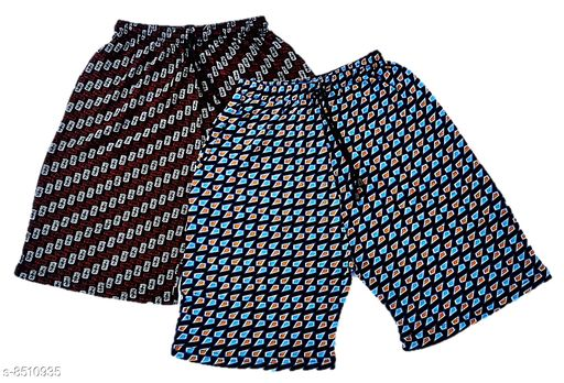 SUNUO Printed Bermuda for Boys & Men's with Pocket(Mix Print & Colour) (Pack of 2)