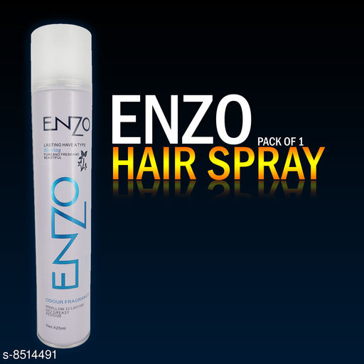 Hair Care ENZO HAIR GOOD STYLISH SPRAY ( PACK OF 1) 420ml  *Product Name* ENZO HAIR GOOD STYLISH SPRAY ( PACK OF 1) 420ml  *Type* Hold & set  *Multipack* 1  *Sizes Available* Free Size *    Catalog Name:  Advanced Ultra Strong Hair Spray CatalogID_1438441 C50-SC1249 Code: 962-8514491-