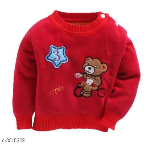 Sweatshirts Beautiful Red Sweatshirt For Kids  *Fabric* Velvet  *Multipack* 1  *Sizes*  1-2 Years  *Sizes Available* 2-3 Years, 6-12 Months, 1-2 Years *    Catalog Name: Agile Trendy Boys Sweatshirts CatalogID_1438611 C59-SC1177 Code: 644-8515222-