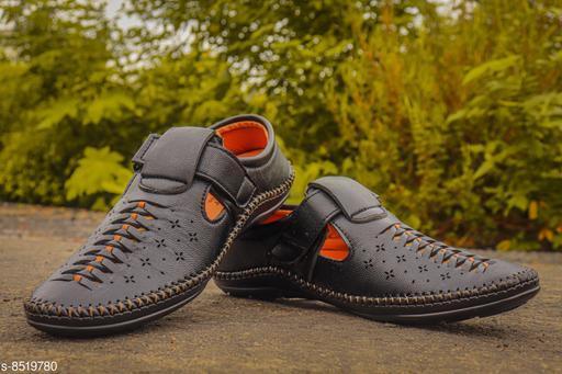 Trendy Men's Black Sandals