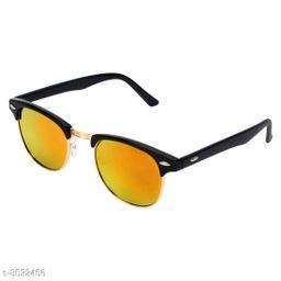 Alvia Black & Golden Clubmaster Unisex Sunglasses