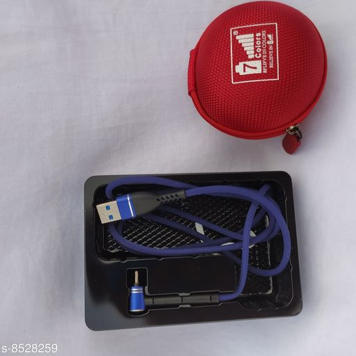 3.1 A Fast Charge & Data Satnd cable 6 time Strong & Durable  I ISO I Red Cover (Case)