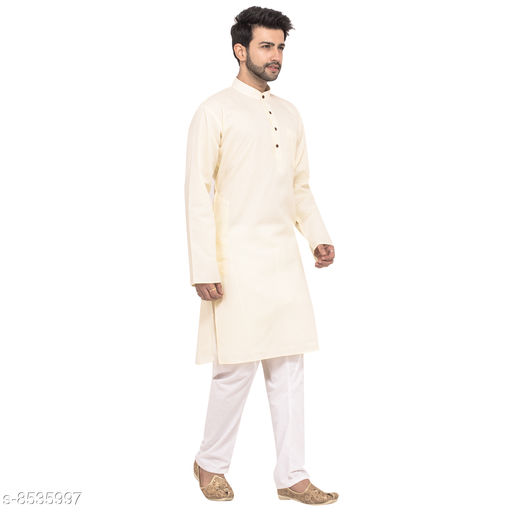 Kurtas  Designer Men Kurta Sets  RC_Cream_Jubba_61_54  *Sizes Available* S, M, L, XL *    Catalog Name: New Stylish Men's Kurtas CatalogID_1443504 C66-SC1200 Code: 969-8535997-