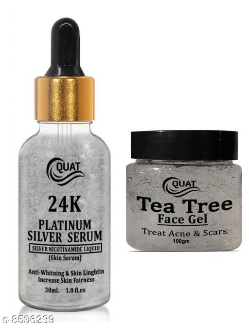 24 k silver serum & tea tree gel