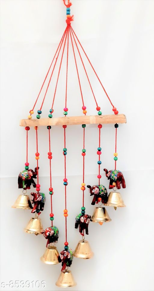 Wind Chimes Traditional Wind Chime Elephant  *Material* Handicraft  *Pack* Pack of 1  *Sizes Available* Free Size *    Catalog Name: Colorful Chimes CatalogID_1444157 C127-SC1619 Code: 552-8539106-