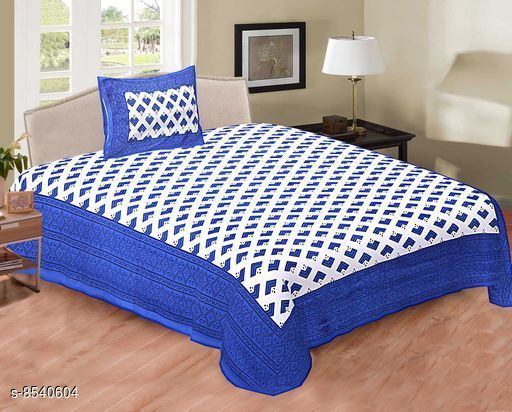 Trendy Single Cotton 90 X 60 Single Bedsheets