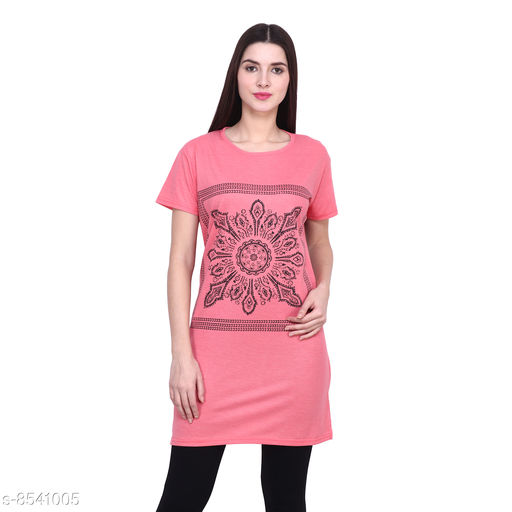Tshirts Women Western Wear - Tshirts  *Fabric* Cotton  *Sleeve Length* Short Sleeves  *Pattern* Printed  *Multipack* 1  *Sizes*   *XXXL (Bust Size* 46 in, Length Size  *Sizes Available* XXXL *    Catalog Name: Women Western Wear - Tshirts CatalogID_1444630 C79-SC1021 Code: 092-8541005-