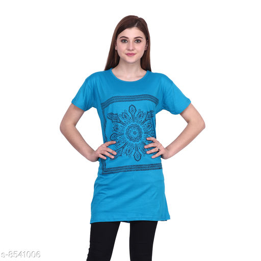 Tshirts Women Western Wear - Tshirts  *Fabric* Cotton  *Sleeve Length* Short Sleeves  *Pattern* Printed  *Multipack* 1  *Sizes*   *XXXL (Bust Size* 46 in, Length Size  *Sizes Available* XXXL *    Catalog Name: Women Western Wear - Tshirts CatalogID_1444630 C79-SC1021 Code: 092-8541006-