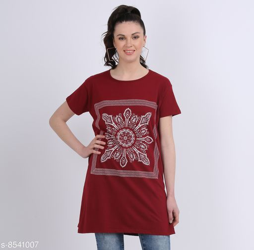 Tshirts Women Western Wear - Tshirts  *Fabric* Cotton  *Sleeve Length* Short Sleeves  *Pattern* Printed  *Multipack* 1  *Sizes*   *XXXL (Bust Size* 46 in, Length Size  *Sizes Available* XXL, XXXL *    Catalog Name: Women Western Wear - Tshirts CatalogID_1444630 C79-SC1021 Code: 092-8541007-
