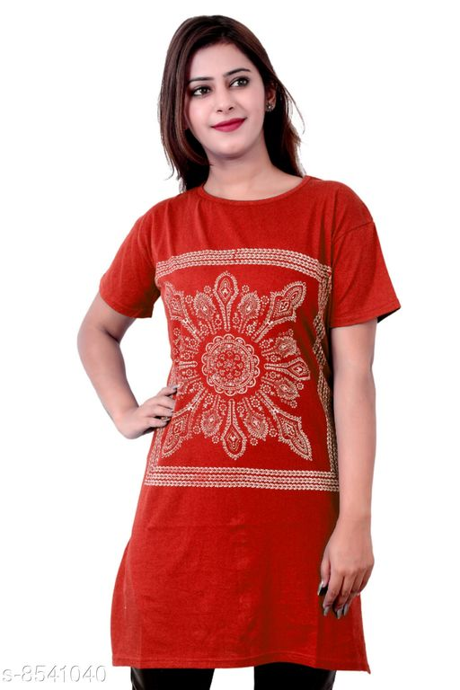 Tshirts Women Western Wear - Tshirts  *Fabric* Cotton  *Sleeve Length* Short Sleeves  *Pattern* Printed  *Multipack* 1  *Sizes*   *XXXL (Bust Size* 46 in, Length Size  *Sizes Available* XXXL *    Catalog Name: Women Western Wear - Tshirts CatalogID_1444637 C79-SC1021 Code: 092-8541040-