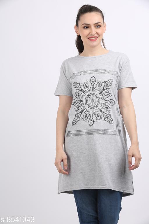 Tshirts Women Western Wear - Tshirts  *Fabric* Cotton  *Sleeve Length* Short Sleeves  *Pattern* Printed  *Multipack* 1  *Sizes*   *XXXL (Bust Size* 46 in, Length Size  *Sizes Available* XXL, XXXL *    Catalog Name: Women Western Wear - Tshirts CatalogID_1444637 C79-SC1021 Code: 092-8541043-