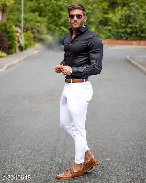 Top & Bottom Sets Trendy Men Clothing Set Trendy Men Clothing Set  *Shirt Fabric * Black berry (2.40 mtr)  *Pants Fabric * Cotton touch ( 1.25 mtr)  *Colour* Multi Colour  *Multipack* 1  *Sizes Available* Free Size *    Catalog Name: Trendy Men Clothing Set CatalogID_1445757 C70-SC1419 Code: 987-8545648-
