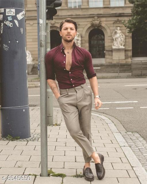 Top & Bottom Sets Trendy Men Clothing Set Trendy Men Clothing Set  *Shirt Fabric * Black berry (2.40 mtr)  *Pants Fabric * Cotton touch ( 1.25 mtr)  *Colour* Multi Colour  *Multipack* 1  *Sizes Available* Free Size *    Catalog Name: Trendy Men Clothing Set CatalogID_1445757 C70-SC1419 Code: 987-8545650-
