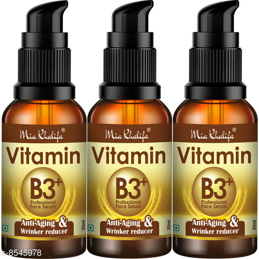 Mia Khalifa Professional Vitamin B3 Skin Correct Face Serum with Niacinamide and Ginger Extract for Acne Marks & Scars - 30 ml (Combof 2) (90 ml)
