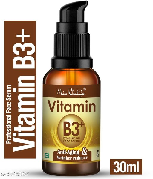 Mia Khalifa Professional Vitamin B3 Skin Correct Face Serum with Niacinamide and Ginger Extract for Acne Marks & Scars - 30 ml