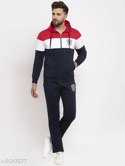 Gents Hooded Colorblocked NYC Printed Tracksuit