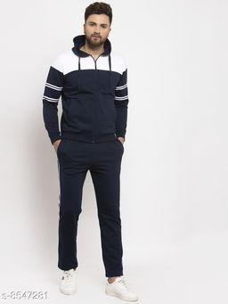 Gents Hooded Zippered Tracksuit For Men