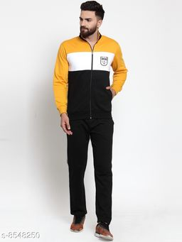 Men's Printed Multicolor Collar Zippered Tracksuit
