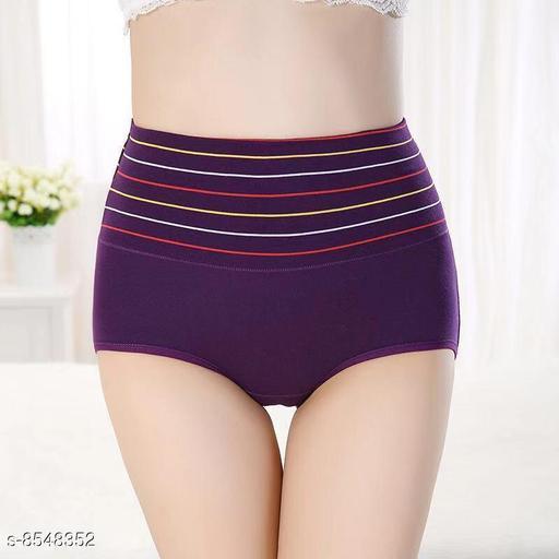Women Seamless Purple Silk Panty