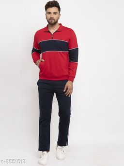 Gents Polo Collar Multicolor Tracksuit For Men