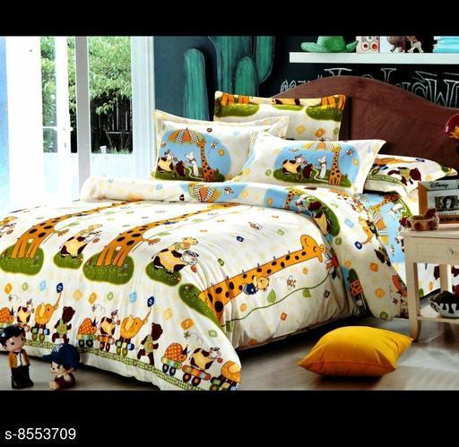 Trendy Glace Cotton 100 X 90 Double Bedsheet