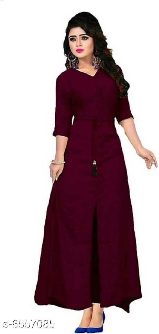 Tops & Tunics  Tops & Tunics button  *Fabric* Rayon  *Sleeves * 3/4 sleeves  *Pattern* Solid  *Multipack* 1  *Sizes*   *M (Top Bust Size* 38 in, Top Length Size  *L (Top Bust Size* 40 in, Top Length Size  *XL (Top Bust Size* 42 in, Top Length Size  *XXL (Top Bust Size* 44 in, Top Length Size  *Sizes Available* Free Size *    Catalog Name: Classic Fashionable Women Tops & Tunics CatalogID_1448679 C79-SC1020 Code: 065-8557085-