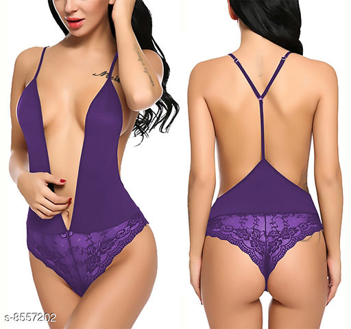 Women's Lace Polyester Babydoll