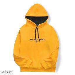 Mustard Sweat Shirt With Hood