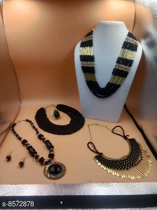 Ambience Mart four Necklace combo set