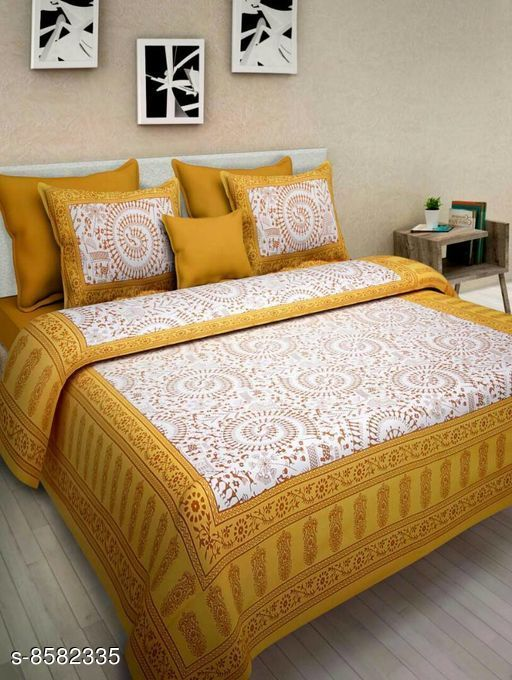 Latest Trendy classy Cotton 90 X 100 Double Bedsheet