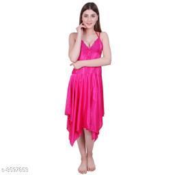 Women's Embellished Satin Babydoll
