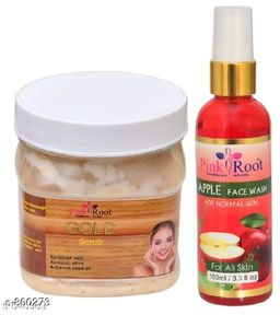 Gold Scrub With Apple Face Wash