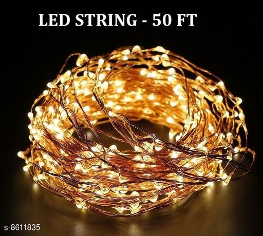 FANCY LED STRING LIGHTS (YELLOW) - 50 FT