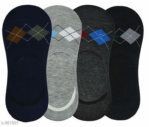 Fancy  Cotton Unisex Socks ( Pack Of 4 )