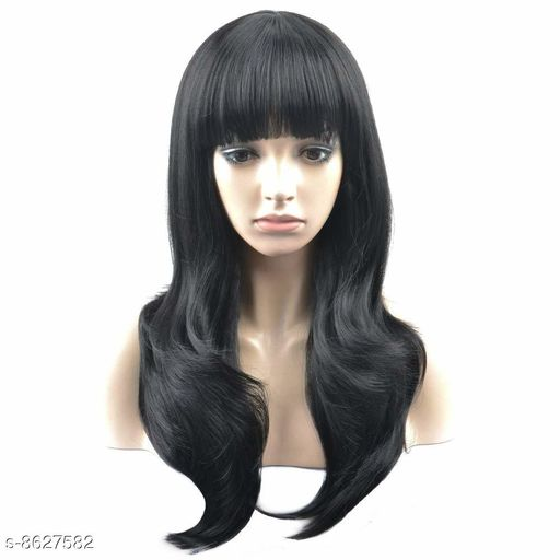 Hair Accessories Easy wash and simple to care,Heat resistant wig  *Color* Black  *Multipack* 1  *Size* Free Size (Length Size  *Sizes Available* Free Size *    Catalog Name:  Advanced High Quality Hair Extensions CatalogID_1465458 C72-SC1088 Code: 7302-8627582-