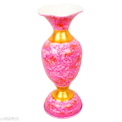 Vases BS AMOR Home Decor Vase With Flower |Living Room| Decorative Showpiece Metal Multicolor vase's  *Material* Metal  *Pack* Pack of 1  *Sizes Available* Free Size *    Catalog Name: Free Mask Fancy Vases CatalogID_1465461 C127-SC1618 Code: 713-8627610-095